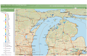 Michigan Lake Water Clarity Interactive Map Viewer