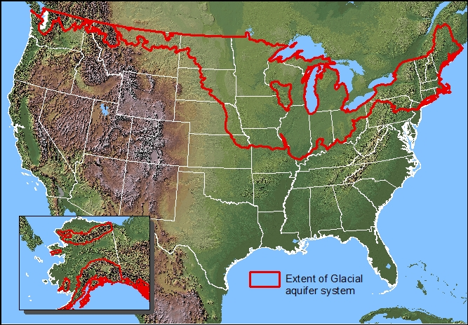 HomeGlacial Aquifer System Groundwater Availability Study - Aquifer map of us