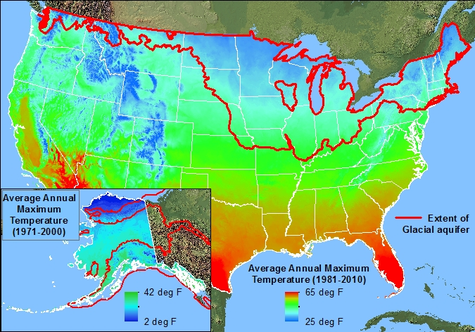 BackgroundGlacial Aquifer System Groundwater Availability Study - Aquifer map of us