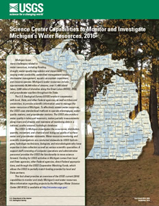 Science center capabilities to monitor and investigate Michigan's water resources, 2016